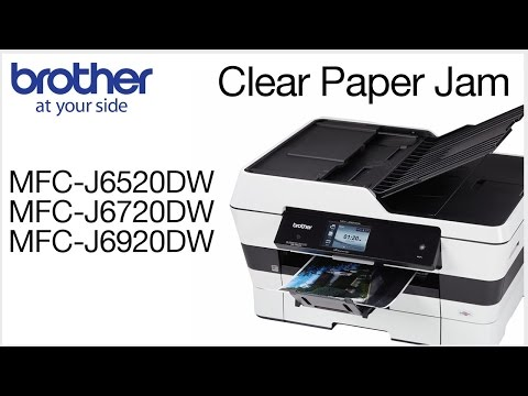 "Brother MFC-J6920DW – how to clear ""Paper Jam"" error - YouTube"