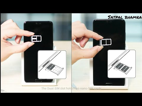 How To Insert Sim Card In Huawei P20 And Huawei P20 Pro Youtube
