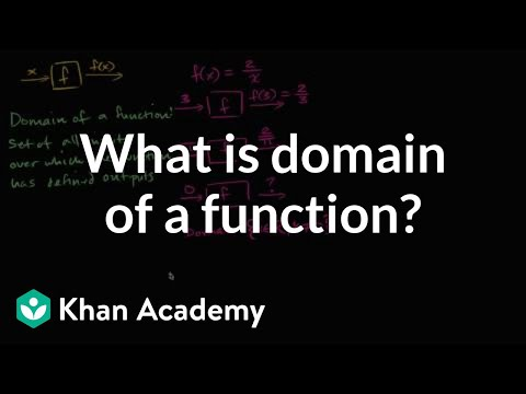 What is the domain of a function? | Functions | Algebra I | Khan Academy