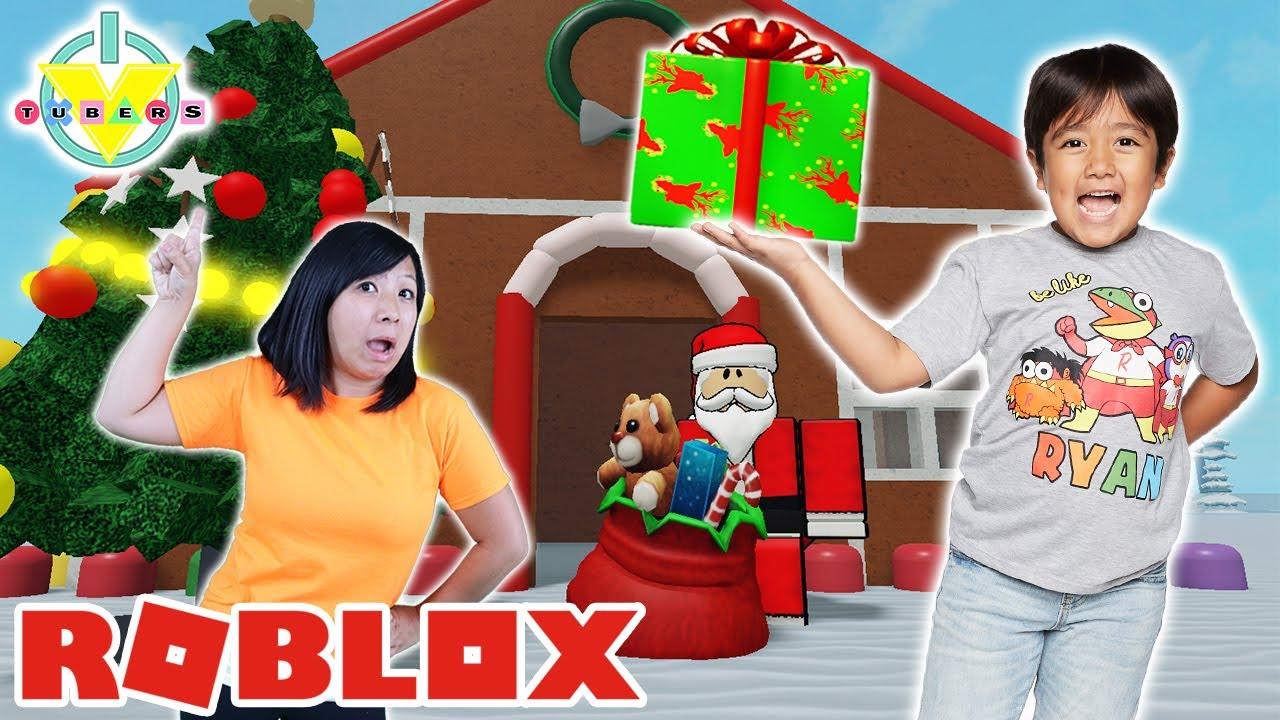 Ryan and Mommy Help Santa SAVE CHRISTMAS in Roblox! Let's Play Roblox Saving Christmas!!