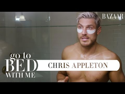 Chris Appletons Nighttime Skincare Routine  Go To Bed With Me  Harpers BAZAAR