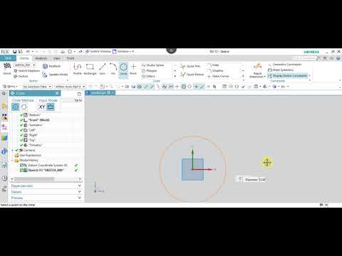 NX 12.0 Tutorial Tamil 04 : Circle | Sketch | NX | Unigraphics