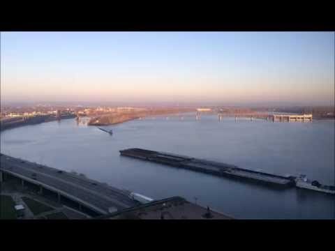 Sunrise - Downtown Louisville and the Ohio River - Louisville Kentucky