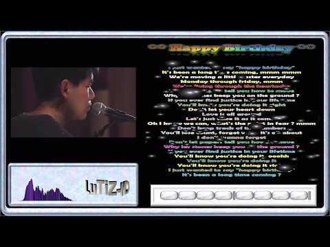 Happy Birthday - Lyric - Visualizer - Acoustic (David Lee)