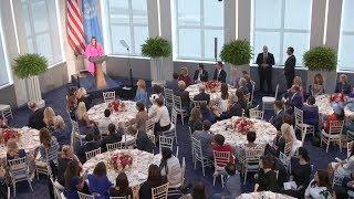 First Lady Melania Trump Hosts U.N. Luncheon