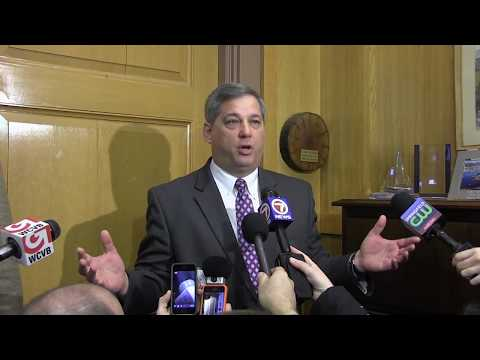 Senate Minority Leader Bruce Tarr discusses issue of senate presidency