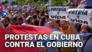 CUBA: Cientos de personas protestan en varias ciudades contra el Gobierno
