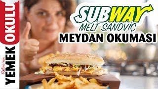 Subway Sandviç (Challenge) Meydan Okuması | Evde Daha Hızlı Subway Sandviç Yapmak