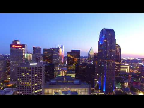 Drone Dallas Night