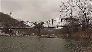 Bridge demolition - slow motion