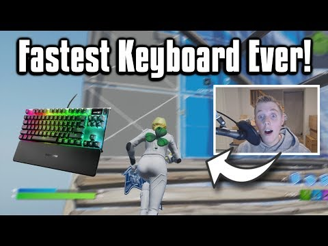 Trying Out The FASTEST Keyboard In Fortnite! - Mongraal's Keyboard!