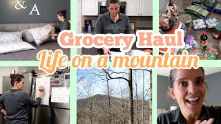 Once a month LARGE FAMILY GROCERY HAUL and ENJOYING life on the mountain