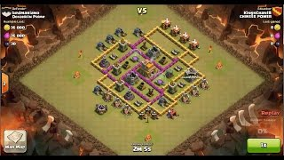 Clash of Clans TH7 vs TH7 Giant, Wizard, Healer & Dragon Clan War 3 Star Attack