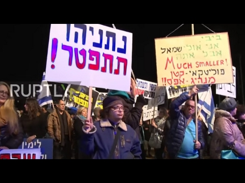 Israel: Tel Aviv protest calls for Netanyahu's resignation following corruption allegations