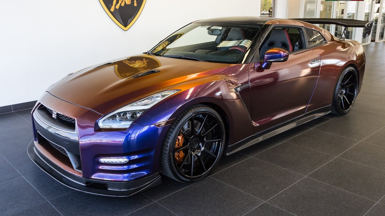 2015 Chameleon Purple Nissan Gtr Black Edition Youtube