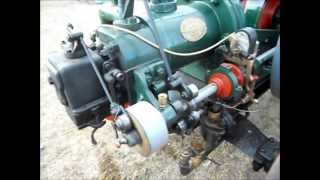 Heyfield Vintage Rally; 6hp Ronaldson & Tippett 'Austral' engine - 18th May 2013.