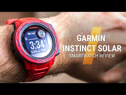 GARMIN Instinct Solar Review 2020 // A watch that charges itself!