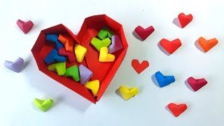 Como hacer corazoncitos de papel ¡facil origami! - How to Make Paper Hearts