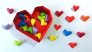 Como hacer corazoncitos de papel ¡facil origami! - How to Make Paper Hearts