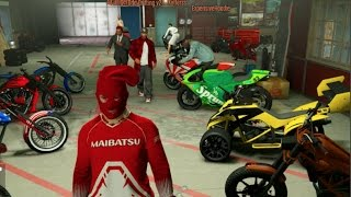 GTA 5 Online Biker DLC - THATS MY BIKE!! Customizing Club House! w/Crew