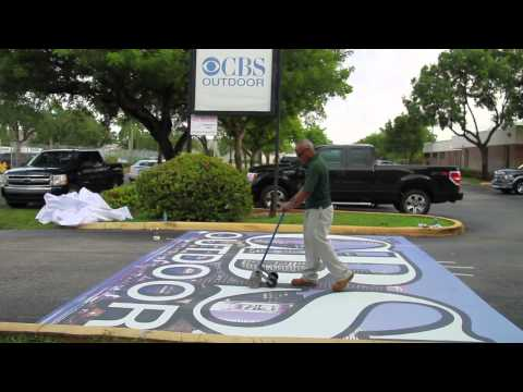 Floor Graphic Tips for Installers - Asphalt Art Ground Graphics
