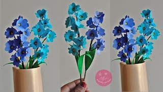 DIY Beautiful easy flower sticks made using colour papers | paper flower bunch