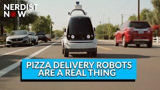 The Autonomous Pizza Delivery Robots Have Arrived! (Nerdist Now)
