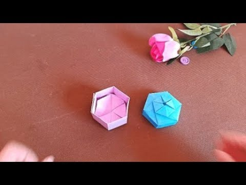 How to make an Origami Ring Box | DIY paper crafts