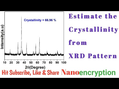 Estimate The Crystallinity From XRD Pattern Using Origin Software