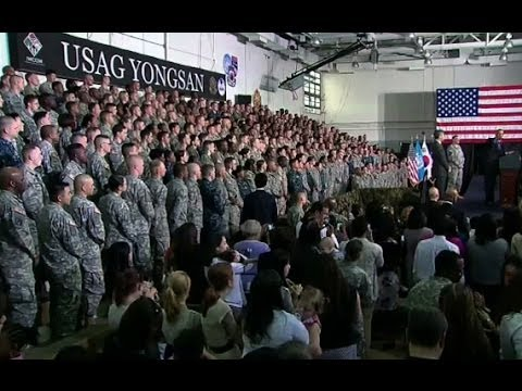 President Obama Speaks at U.S. Army Garrison Yongsan
