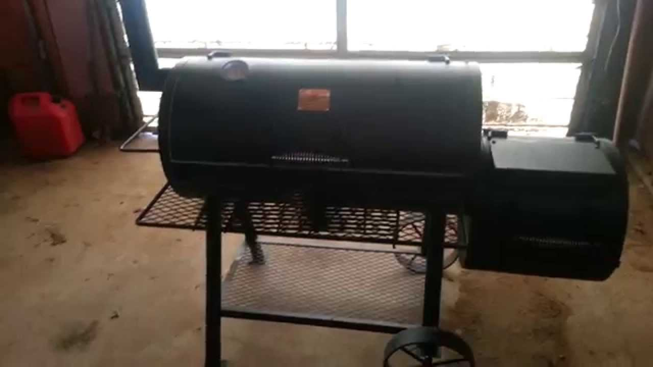 oklahoma joes highland offset smoker review youtube. Black Bedroom Furniture Sets. Home Design Ideas