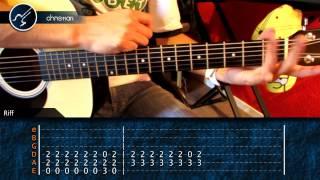 """Cómo tocar """"Zombie"""" de The Cranberries en Guitarra Acústica (HD) Tutorial - Christianvib"""