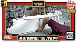 Star Wars Celebration Vi Diorama Workshop : Jabba's Sail Barge - Time Lapse Construction.m4v