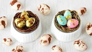 как сделать гнездо из шоколада