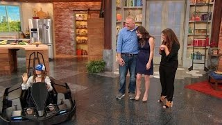 Army Vet Gets a Huge Surprise When NASCAR's Danica Patrick Drives Into Our Studio!
