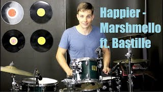 Happier Drum Tutorial - Marshmello ft. Bastille
