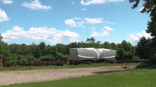 Canadian Pacific Windmill Train and Talking Defect Detector [H…