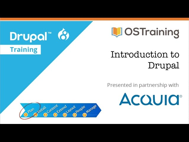 Drupal 8 Beginner, Lesson 1: Introduction to the Course
