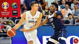 USA vs SERBIA basketball 2019 highlights