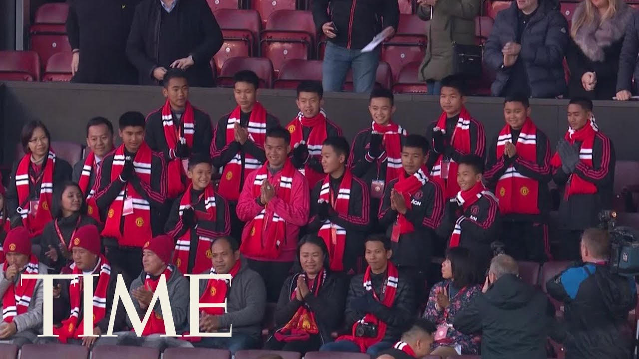 boys-rescued-from-thai-cave-attend-a-manchester-united-match-time