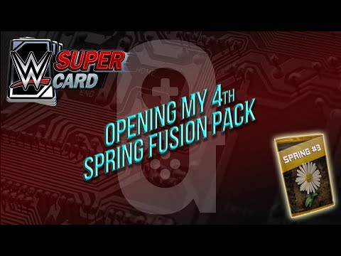 WWE Supercard - Mar 17th Opening my 4th Spring Fusion Card 👍🏻