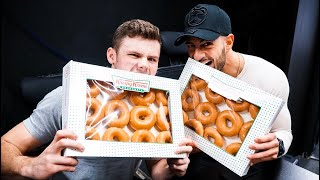 WE TRIED TO EAT 12 KRISPY KREME IN 2 MINUTES!