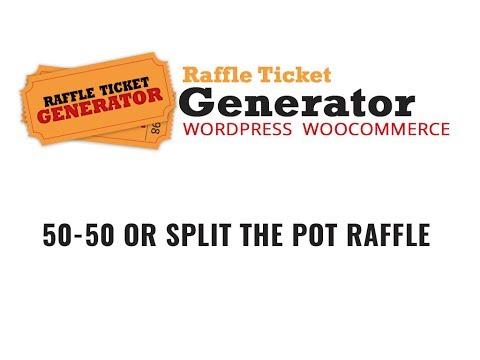 raffle ticket generator v3 split the pot 50 50 raffle info youtube