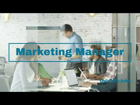 QuickToJobs - Marketing Manager in Full and Part time - Quick Jobs