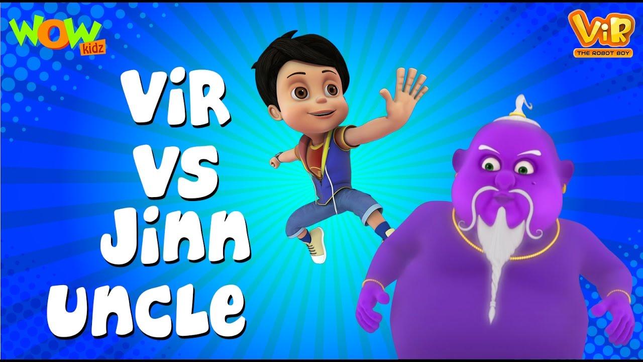 Download Vir The Robot Boy   Hindi Cartoon For Kids   Vir vs jinn uncle   Animated Series  Wow Kidz