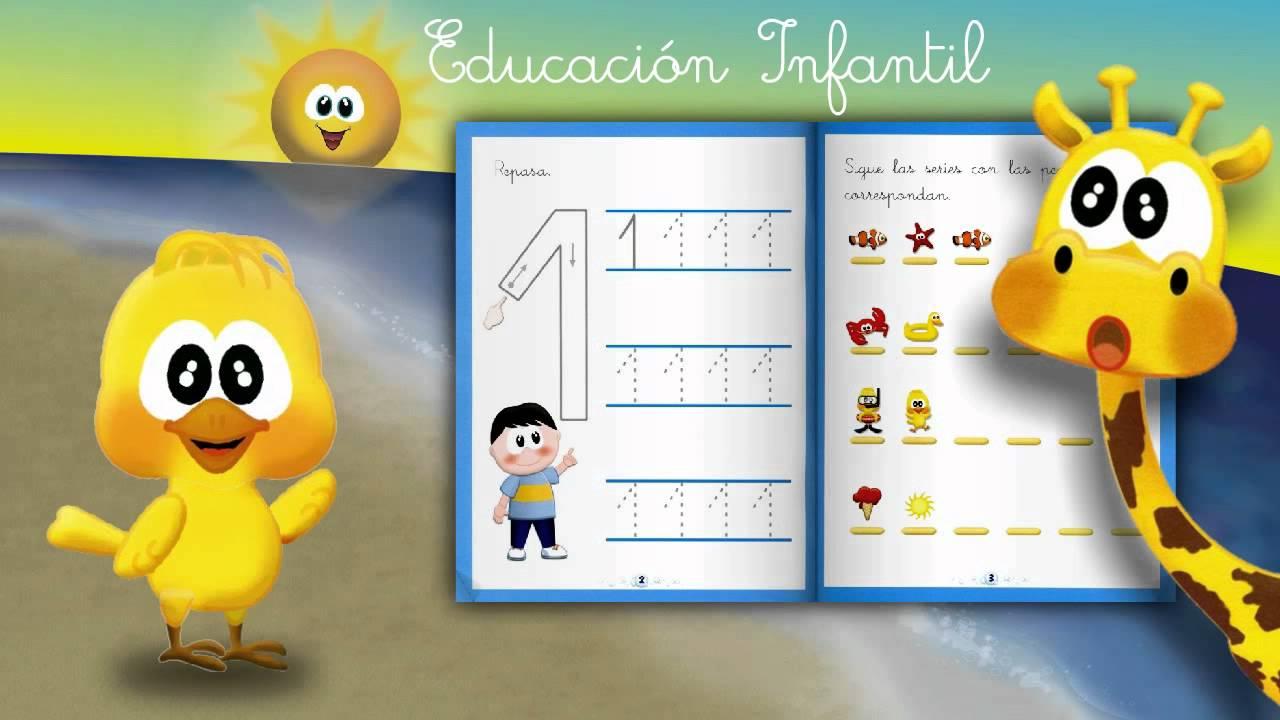 Cuaderno Educación Infantil 3 y 4 años: Grafomotricidad Números ...