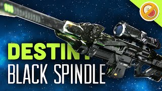 DESTINY Black Spindle Fully Upgraded Exotic Sniper Rifle Review (The Taken King Exotic)