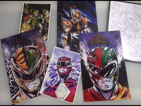 AMAZING! ORIGINAL POWER RANGERS ARTWORK BY ARTOFIDAN