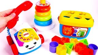 Learn Colors and Shapes with Toys for Children