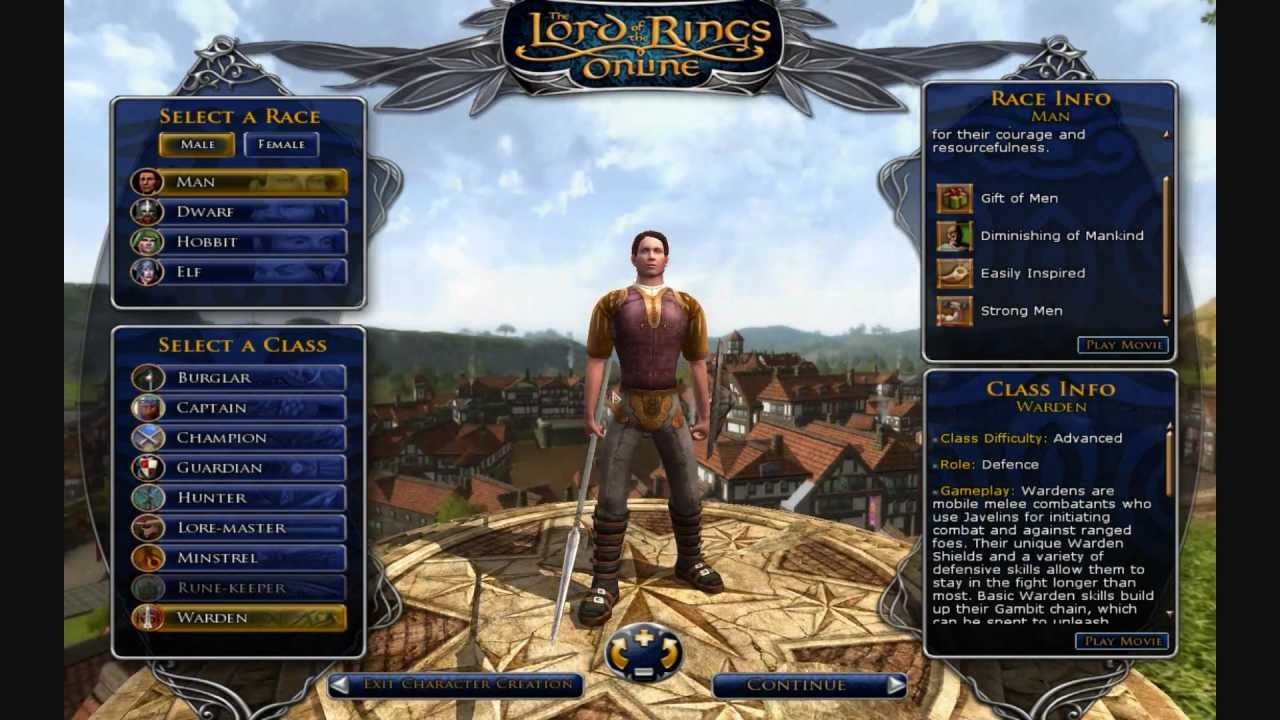 Lord of the Rings Online - All About Character Creation
